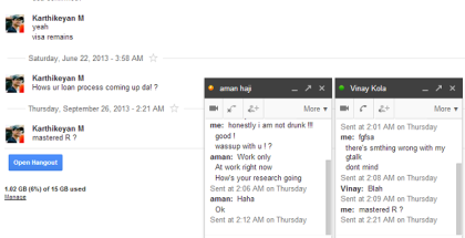 google hangout screenshots