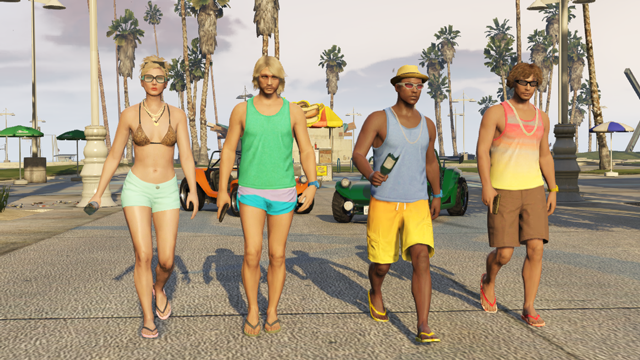 gta beach bum pack