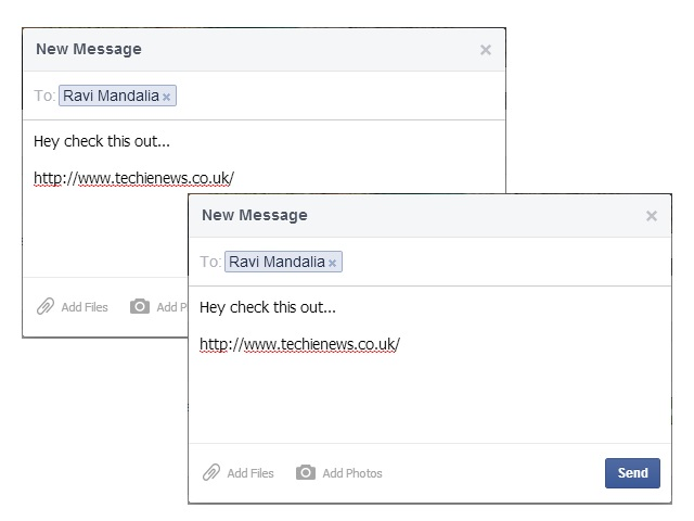 Facebook private message