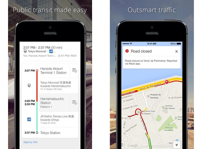 Google Maps for iOS shortest route update