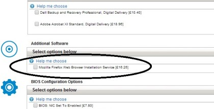 Dell Charging for Firefox installation