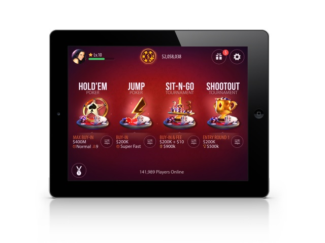 Zynga Poker iPad Lobby