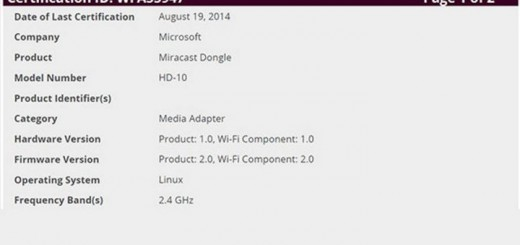 Microsoft-Miracast-Dongle-FCC-Filings