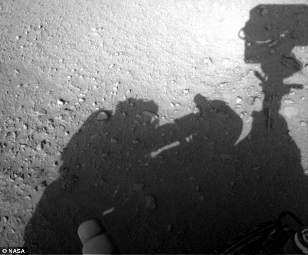 Curiosity Rover Shadow of man