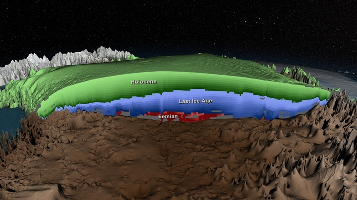 Greenland ice 3D