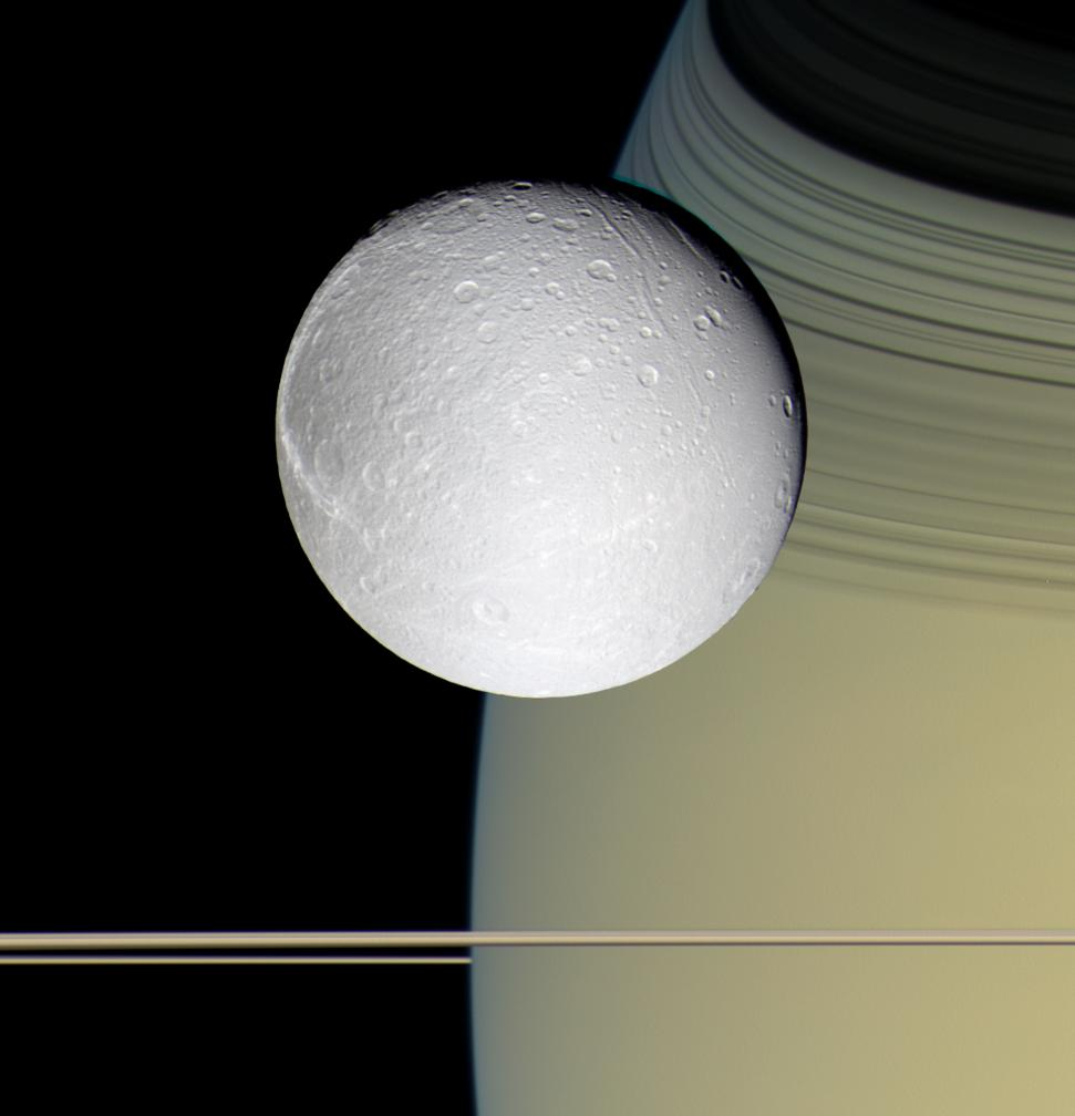 Saturn moon Dione