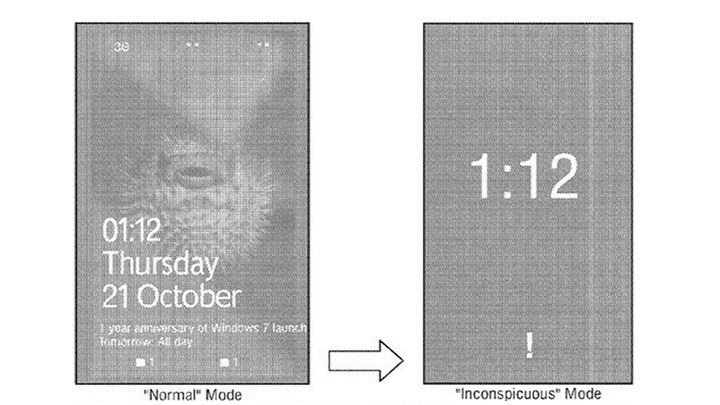 Microsoft patents 'Inconspicuous Mode' for smartphones ...