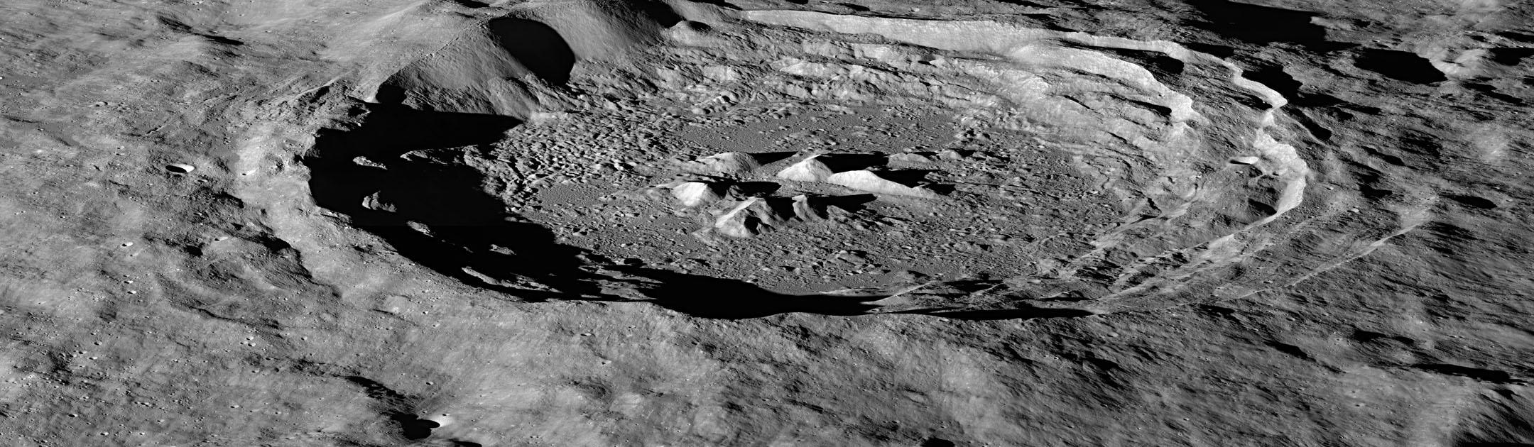 Moon Hayn crater