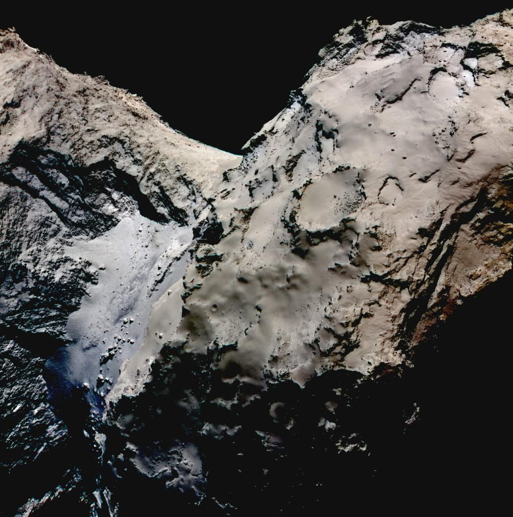 ESA Rosetta OSIRIS reflectivity