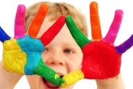 Kids coloured hands
