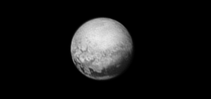 Tantalizing signs of geology on Pluto are revealed in this image from New Horizons taken on July 9, 2015 from 3.3 million miles (5.4 million kilometers) away.