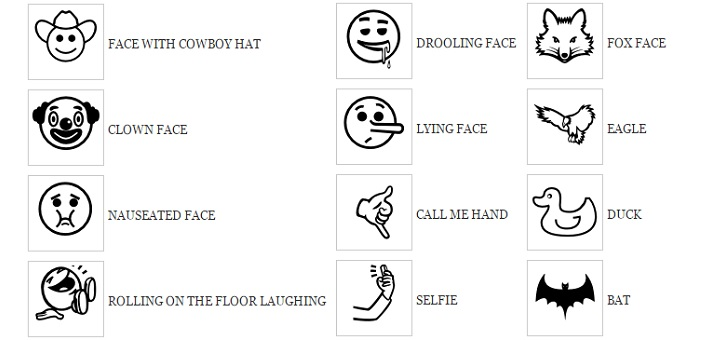 Some have also been accepted to fill gaps in the existing set of Unicode emoji, as by completing a gender pair.