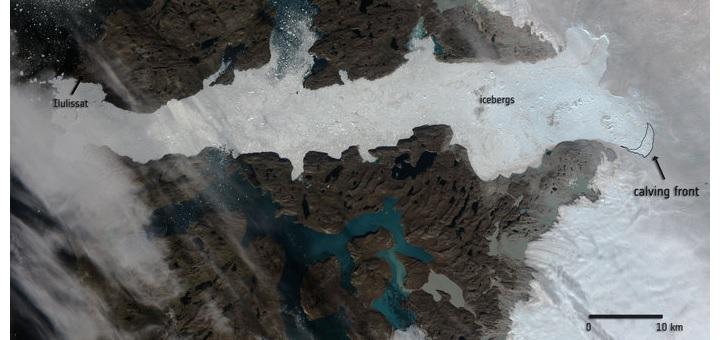 Jakobshavn glacier calving