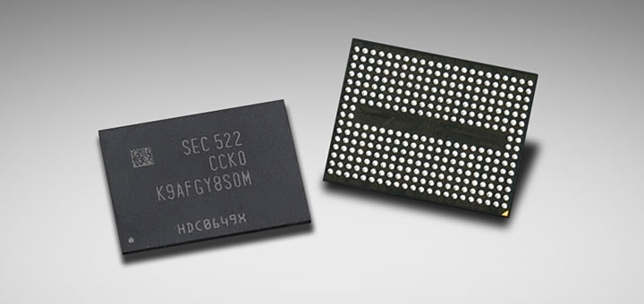 Samsung starts mass production of first 256 Gb 3D V-NAND flash memory