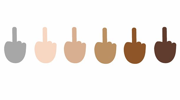 WhatsApp Middle Finger Emoji