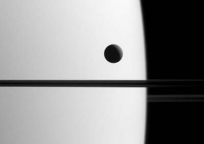 The image was captured from a distance of approximately 1.4 million miles (2.3 million kilometers) from Saturn and at a Sun-Saturn-spacecraft, or phase, angle of 119 degrees.