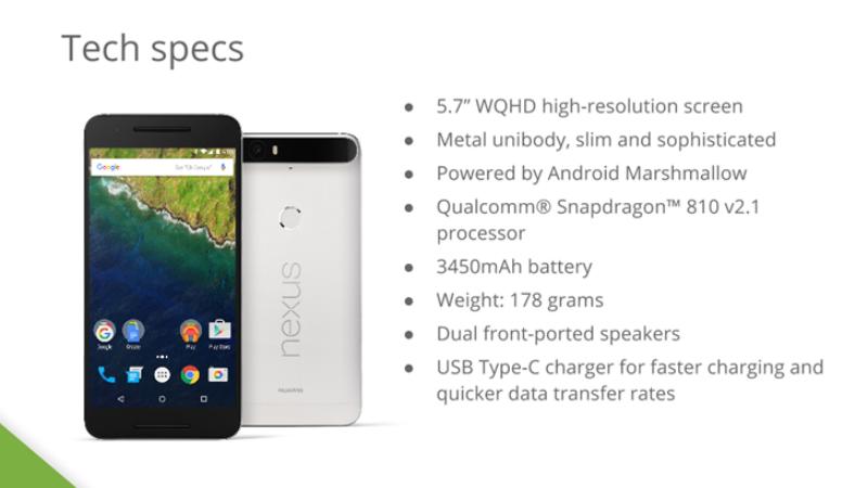 Nexus 6P leaked specs
