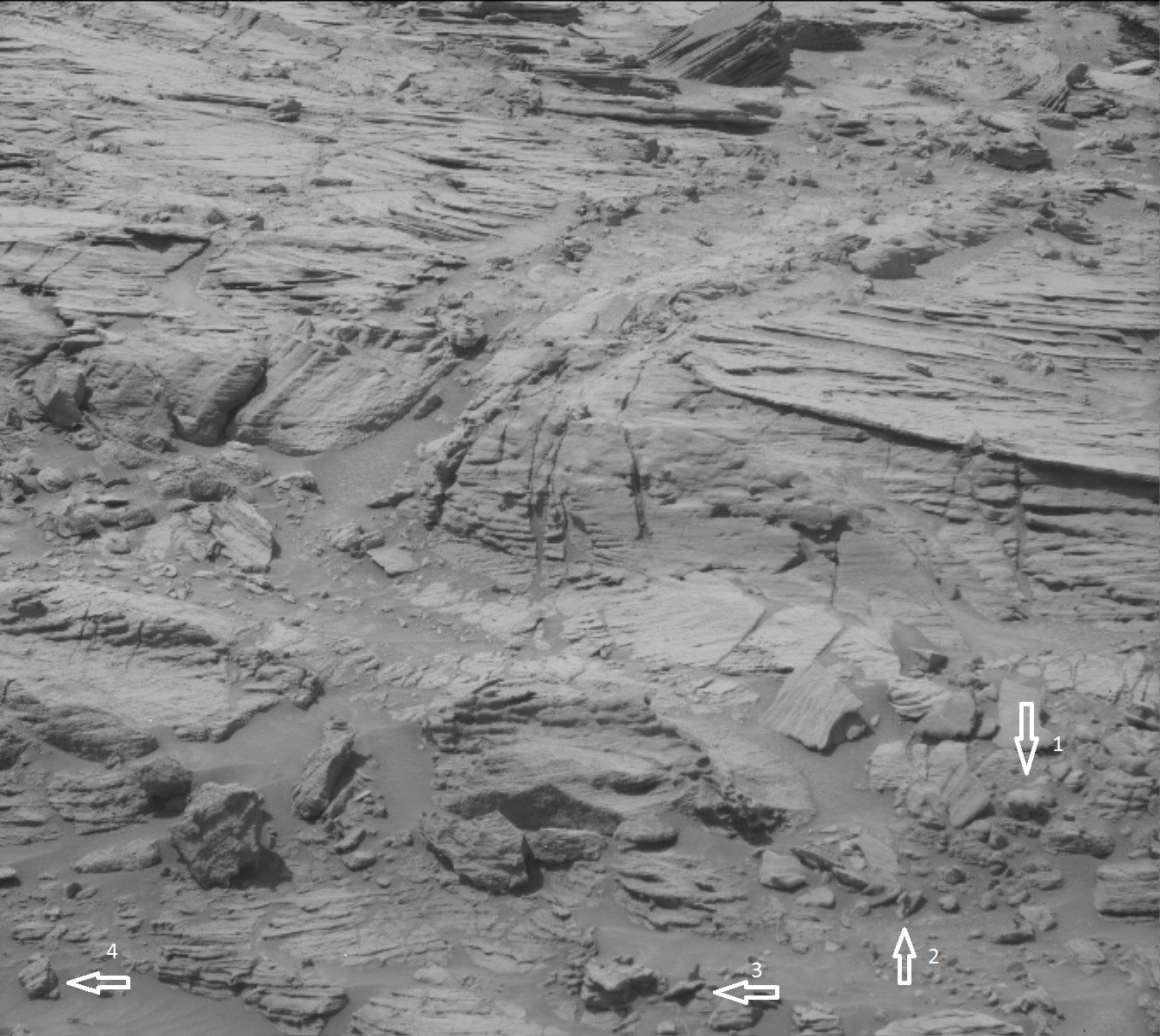 Curiosity Rover Mars Swan